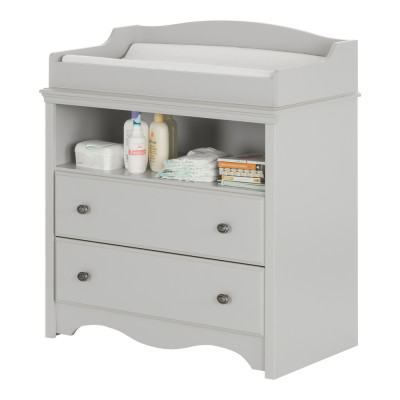 Angel Changing Table with Drawers (Soft Gray)
